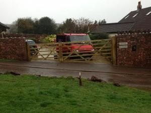 Bespoke shaped farm gates in Avon