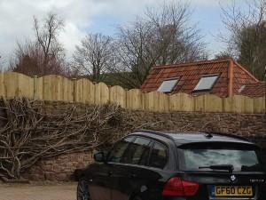 Dome closeboard fencing panels in Bristol
