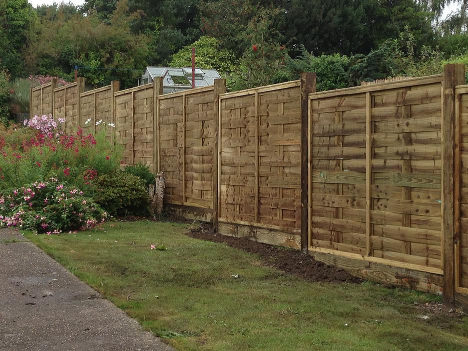 Interwoven style fence panels in Bristol