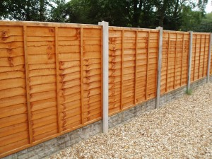 overlap fence panels, in Bristol